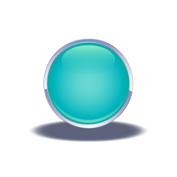 glossy blue button 01