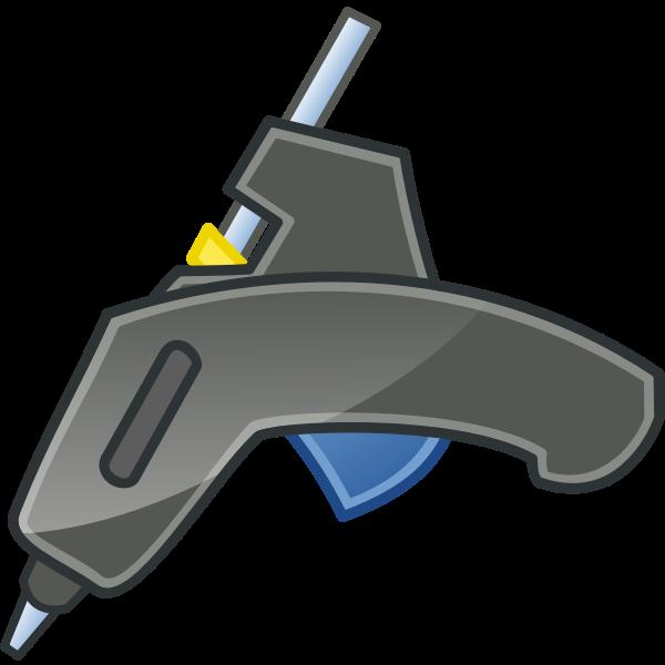 Vector illustration of welding gun