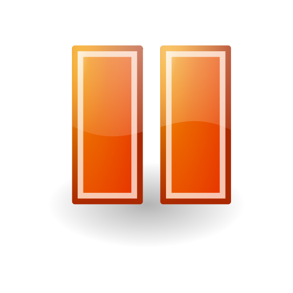 Pause orange button