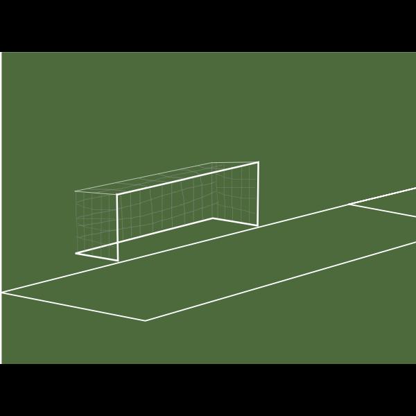 Goal box vector clip art