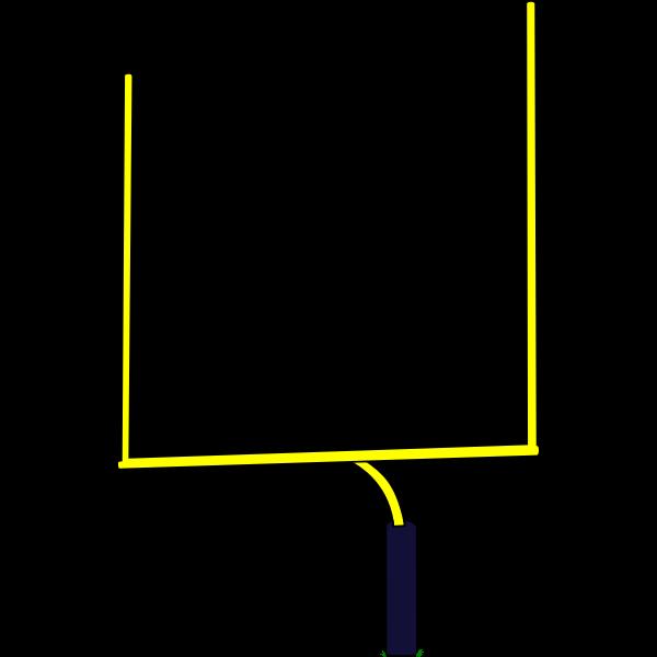 American football goal post vector illustration