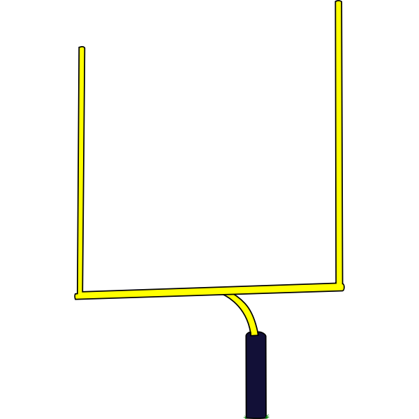 American football goal post vector illustration