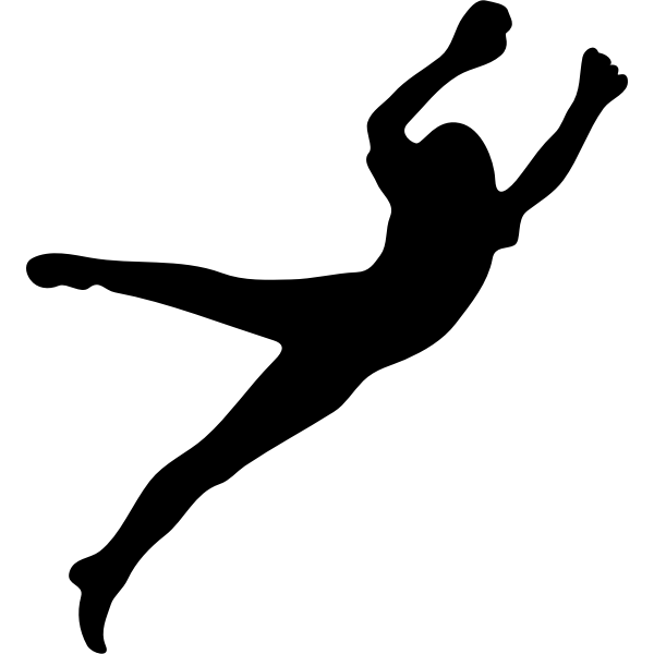 Silhouette of a goalkeeper