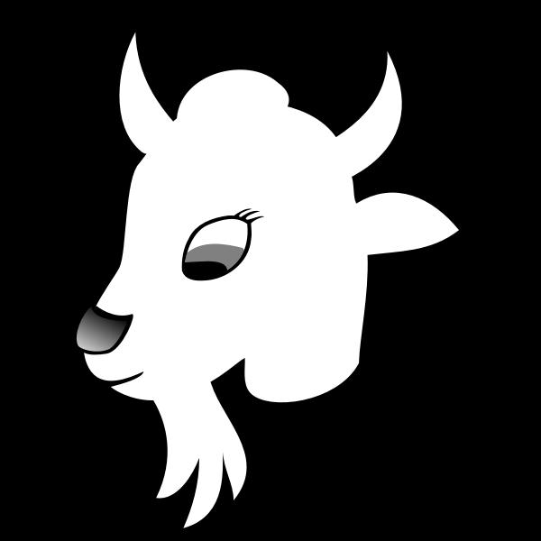 Goat line art vector graphiccs