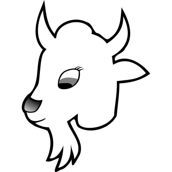 Goat line art vector graphiccs