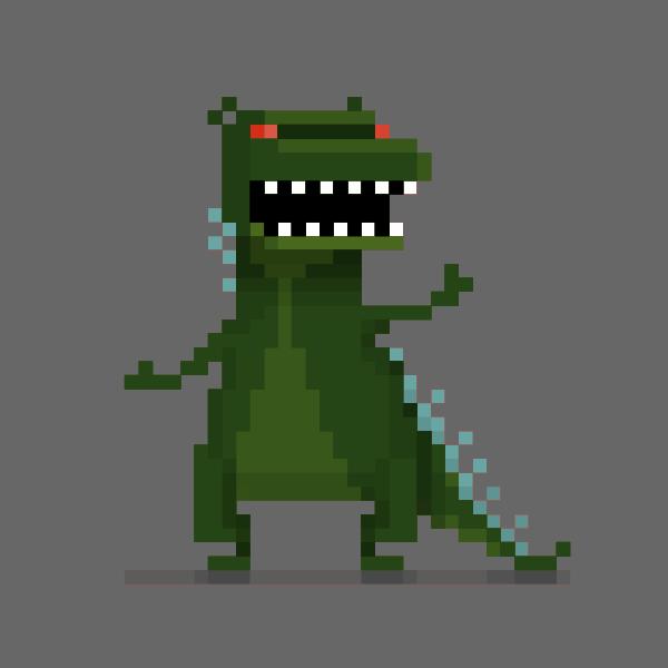 Dino Monster pixel vector drawing