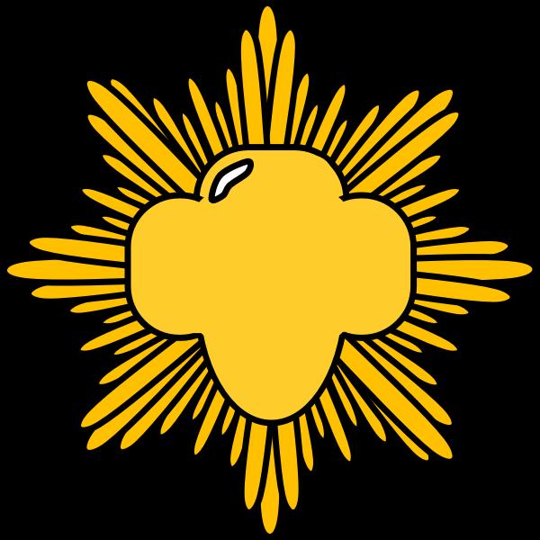 Gold award pin vector image