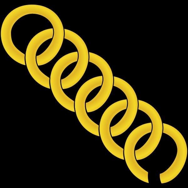 Vector graphics of golden chain