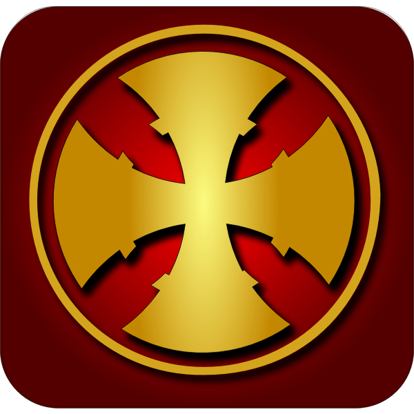 Golden cross vector clip art