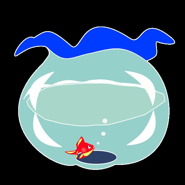 Goldfish in fishbowl vector image