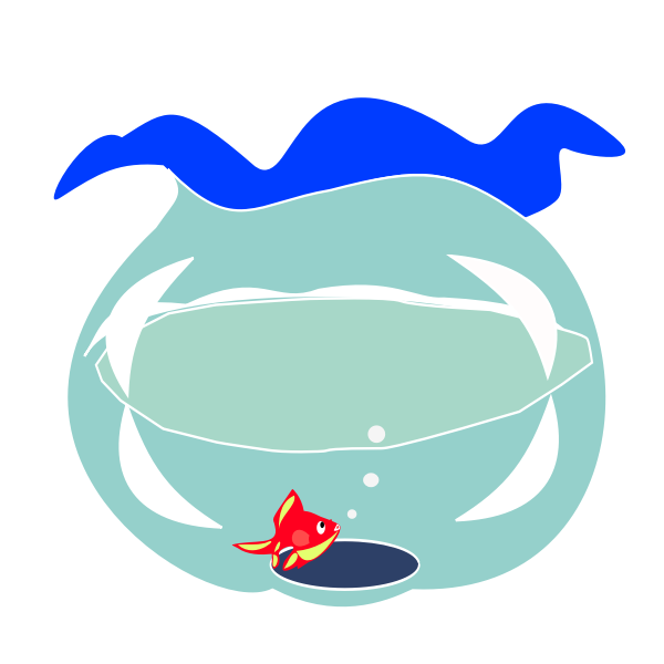 Goldfish in fishbowl vector image