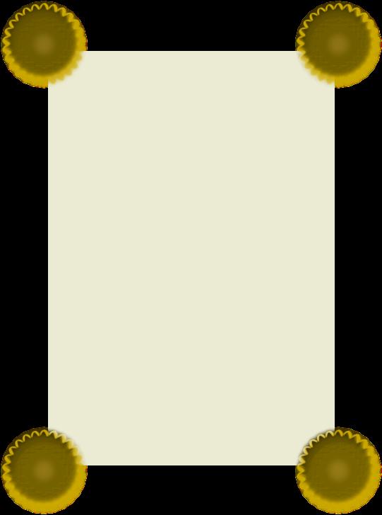 Gold frame vector clip art