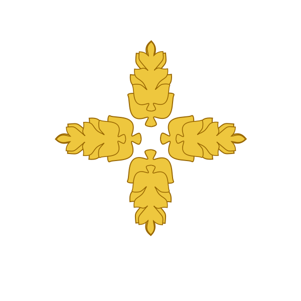 Golden Wheat Medallion