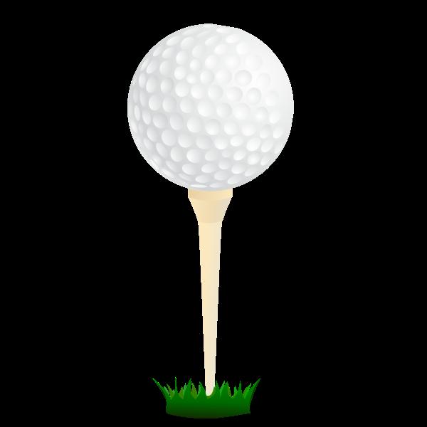 Vector graphics of golf ball