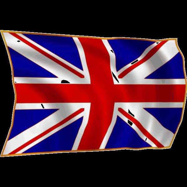 British flag in wind vector illustration