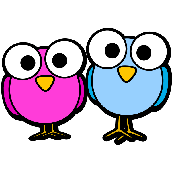 Googley eye birdies vector