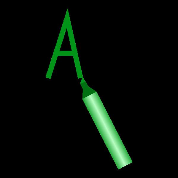 Vector clip art of marker