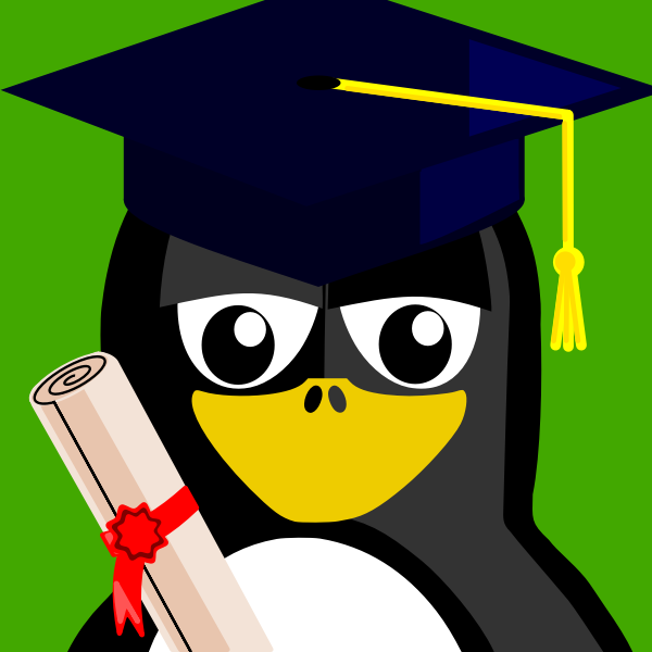 Penguin with graduation cap