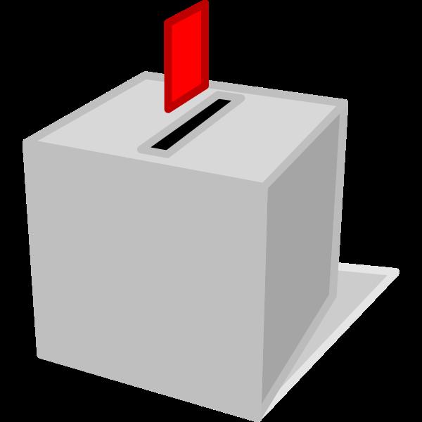 Ballot box with ballot paper vector clip art