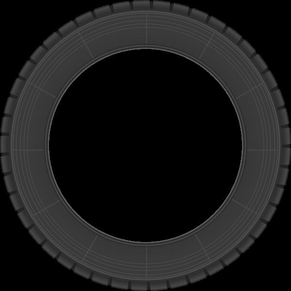 Rally tire vector clip art