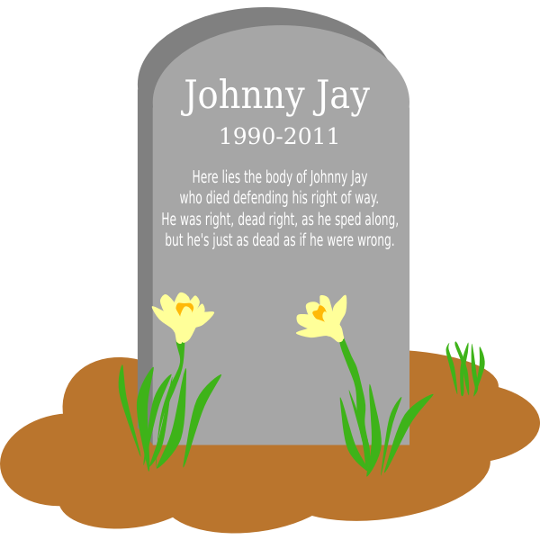 gravesite with flowers johnny jay