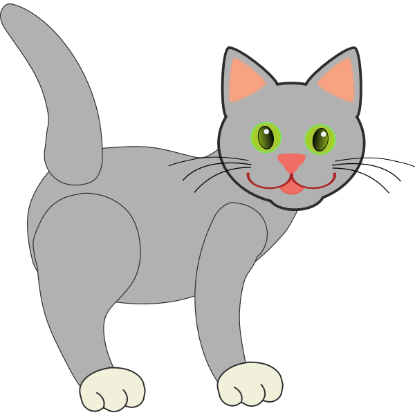Smiling cat vector drawing