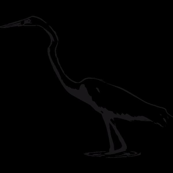 Great Egret vector clip art