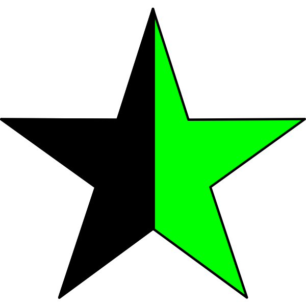 Vector drawing of green anarchism symbol