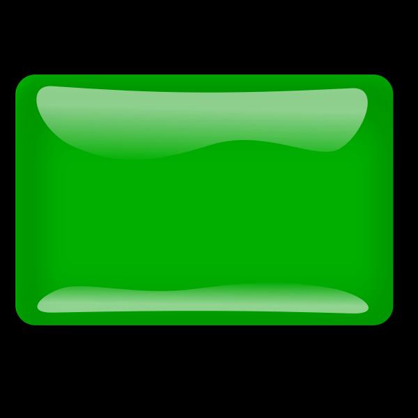 Gloss green square button vector clip art