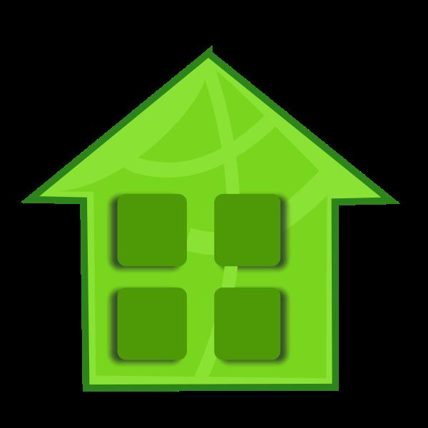 Vector clip art of green home