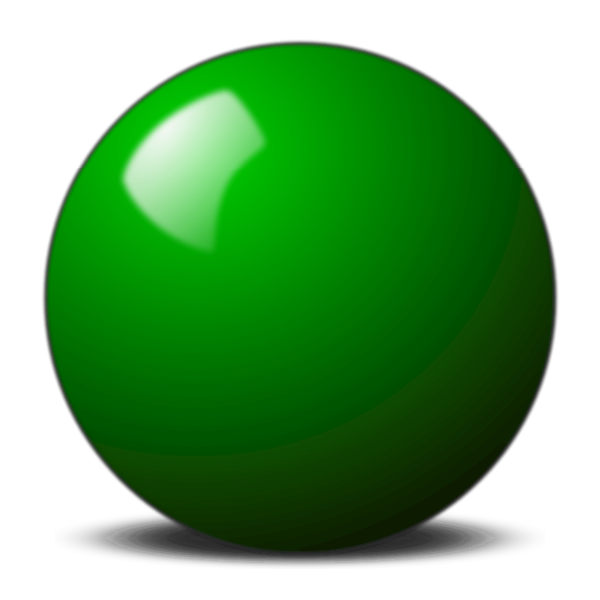 green snooker ball