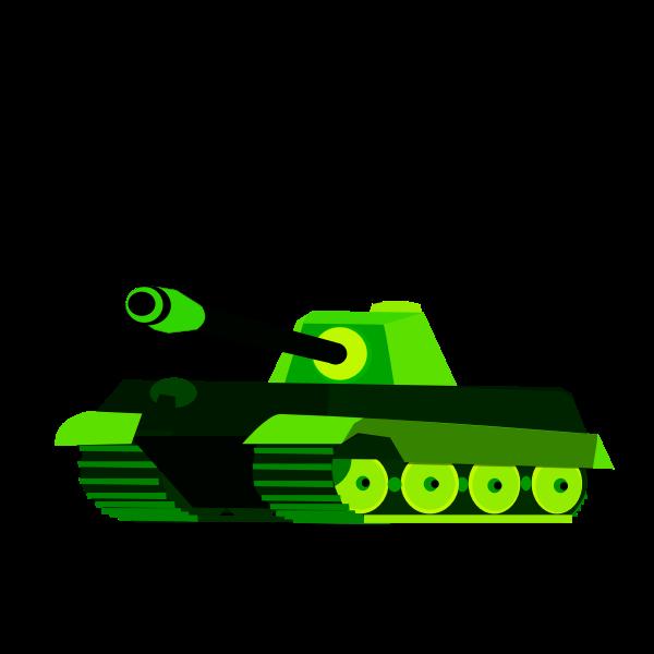Green tank vector drawing