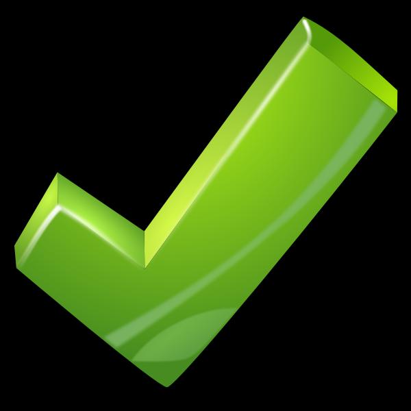 green tick bg black