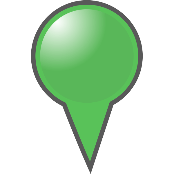 Green location pin