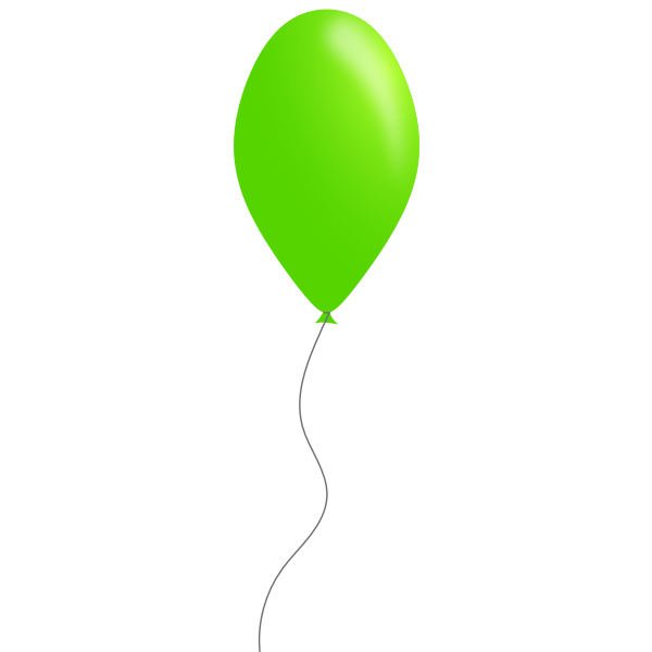 Green color balloon vector image