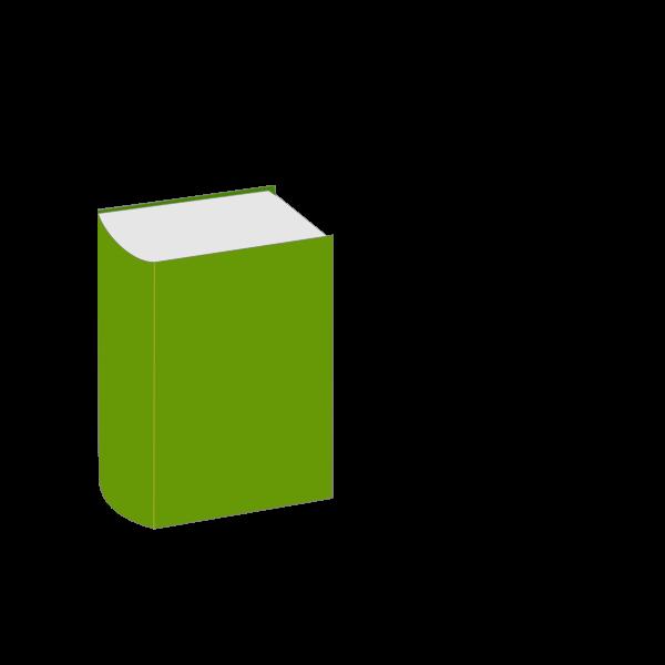 Hardback book vector image