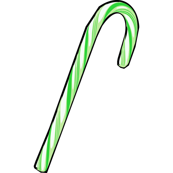 Green candy cane