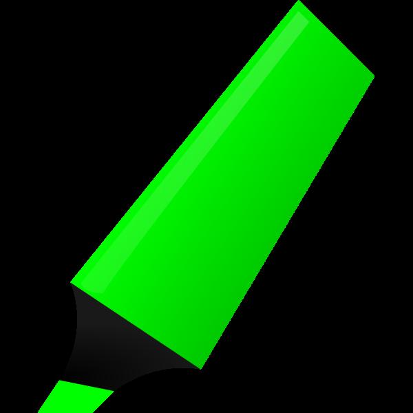 Vector drawing of green highlighter