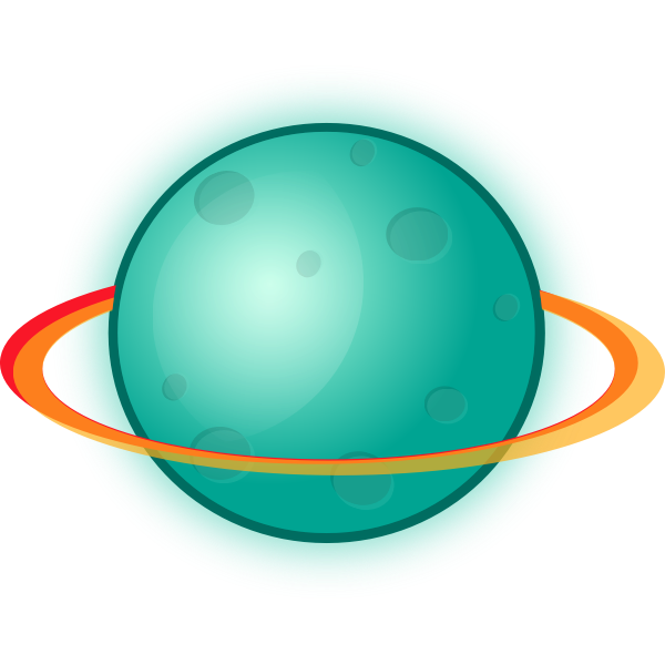Planet with rings vector image