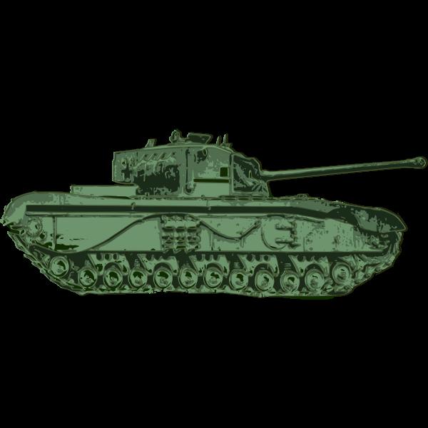 Green Tank Vector Graphics