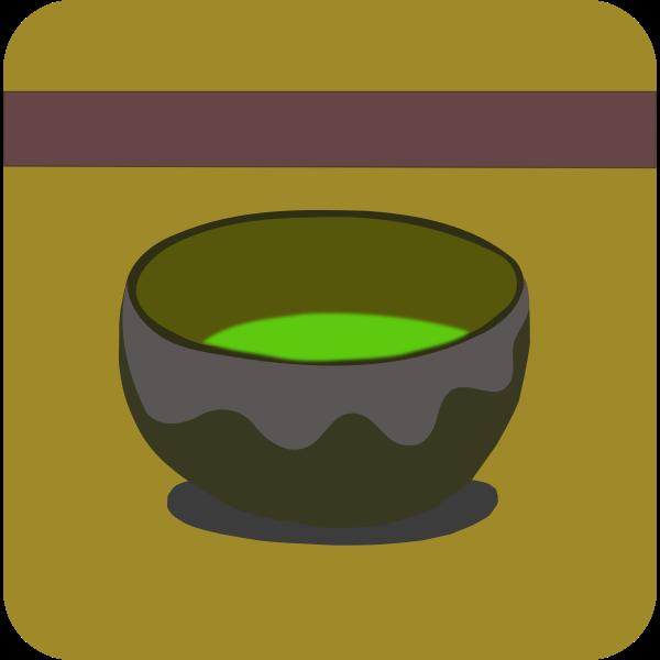 Vector graphics of green tea sign