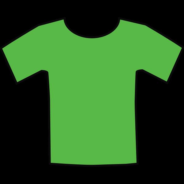 Green t-shirt vector graphics