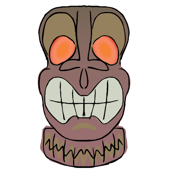 Brown Tiki vector graphics