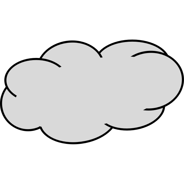 Grey cloud image