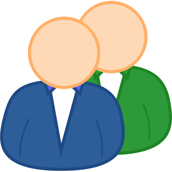 User group avatar vector drawing
