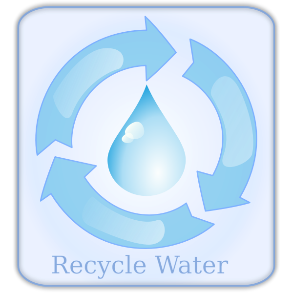 Recycle water sign vector image