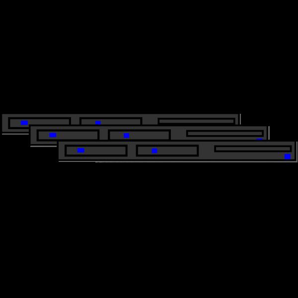 1U server pool vector drawing