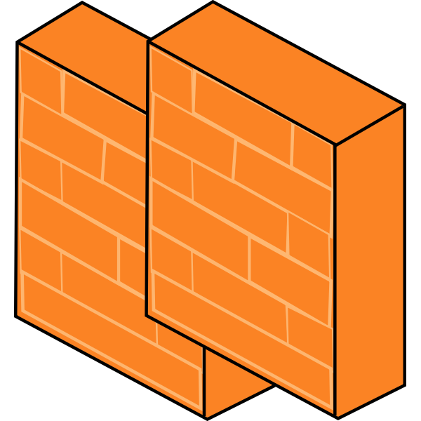 Firewall pair for computer networks vector image