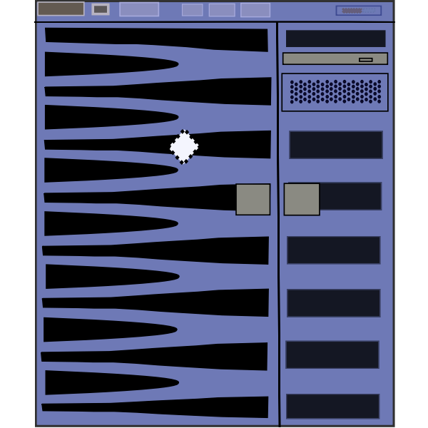 SunFire 2900 server vector image