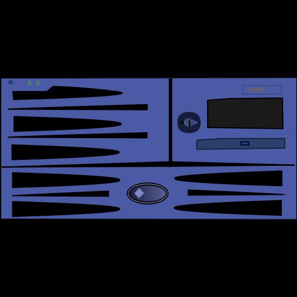 Sun Fire v490 server vector image